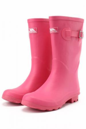 Сапоги Trespass. Цвет: розовый