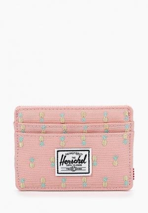 Визитница Herschel Supply Co. Цвет: розовый