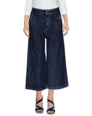 Джинсовые брюки CARE OF YOU. Цвет: синий