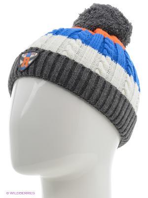 Шапка Чудо-Кроха. Цвет: синий, темно-серый, оранжевый, белый