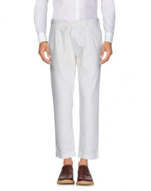 Повседневные брюки FUTURO. Цвет: белый