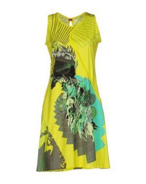 Короткое платье SAVE THE QUEEN! SUN. Цвет: желтый