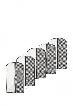 Комплект чехлов для одежды 5 шт. Homsu. Цвет: черно-белый