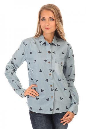Рубашка женская  Chicken Denim Picture Organic. Цвет: голубой