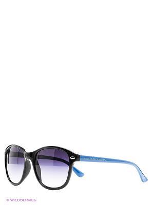 Солнцезащитные очки United Colors of Benetton. Цвет: черный, голубой