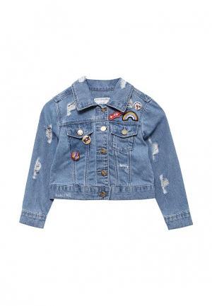 Куртка джинсовая Piazza Italia. Цвет: голубой