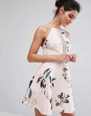 Keepsake Платье мини Do It Right. Цвет: мульти