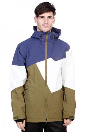Куртка  Snow Jacket Gates Men Olive Zimtstern. Цвет: белый,зеленый,синий