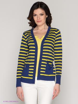 Кардиган O De Mai. Цвет: синий, желтый