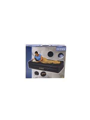 Надувной матрас -кров.райзинг комфорт 99х191х47см Intex. Цвет: темно-синий