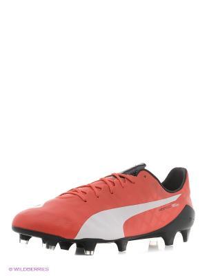 Бутсы evoSPEED SL FG Puma. Цвет: красный