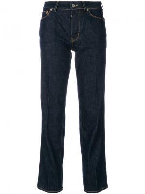 Прямые брюки с высокой талией Golden Goose Deluxe Brand. Цвет: синий