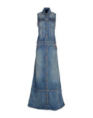 Длинное платье JUST CAVALLI. Цвет: синий