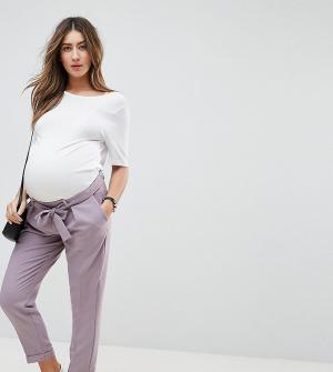 ASOS Maternity Брюки-галифе с поясом оби. Цвет: серый