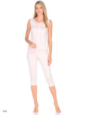 Пижама KrisLine. Цвет: бежевый