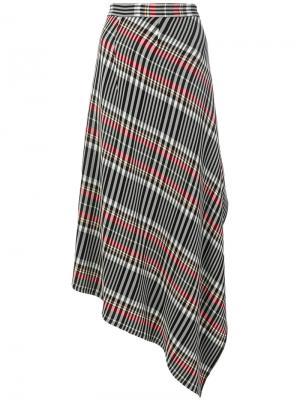Асимметричная юбка в клетку Ports 1961. Цвет: многоцветный