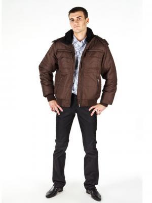Куртка мужская lawiggi. Цвет: коричневый