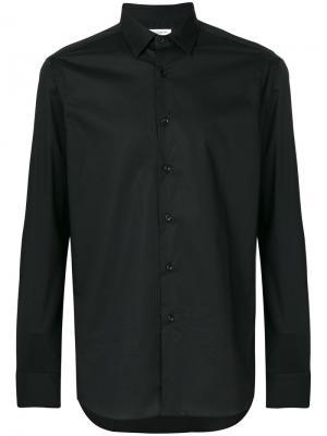 Классическая рубашка Paolo Pecora. Цвет: чёрный