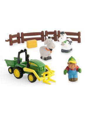Моя первая ферма - набор с погрузчиком TOMY.. Цвет: белый