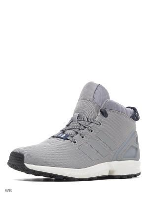 Кроссовки муж. ZX FLUX 5/8  MGSOGR/CONAVY/VINWHT Adidas. Цвет: белый, серый