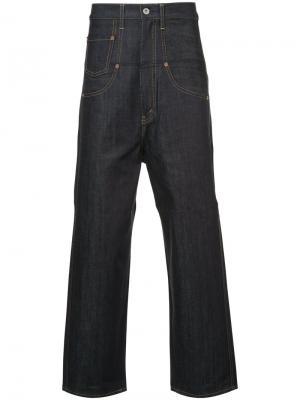 High rise wide leg jeans Junya Watanabe Comme Des Garçons Man. Цвет: синий