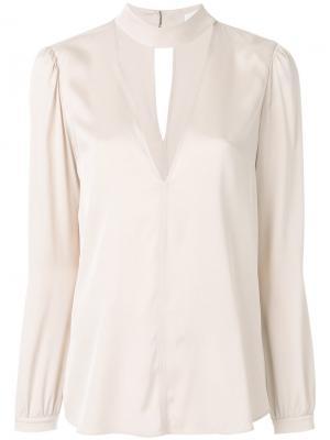 Блузка с V-образным вырезом и чокером A.L.C.. Цвет: телесный