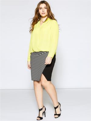 Блузка Fiorella Rubino. Цвет: светло-зеленый