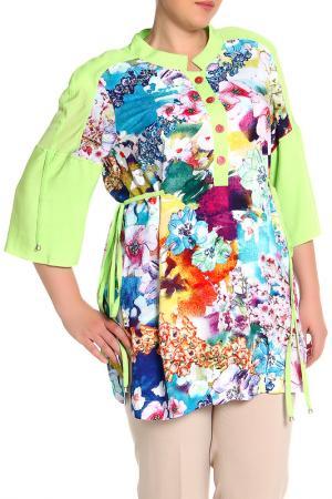 Блуза EVA Collection. Цвет: салатовый