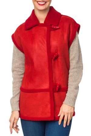 Дубленка Mondial. Цвет: красный