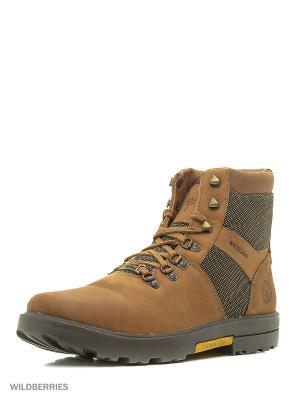 Ботинки WOODLAND. Цвет: светло-коричневый