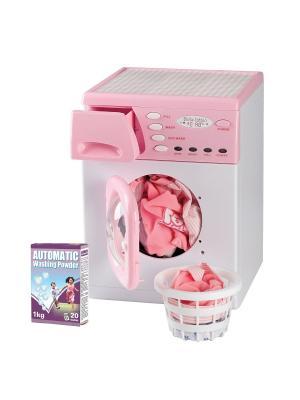 Стиральная машина Casdon (корзина и порошок для белья в комплекте), цвет:розовый. Цвет: розовый