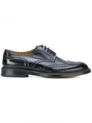 Броги со шнуровкой Doucals Doucal's. Цвет: чёрный