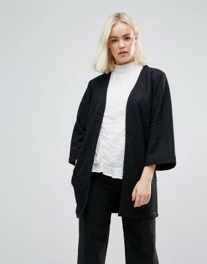 B.Young Фактурная удлиненная куртка. Цвет: черный