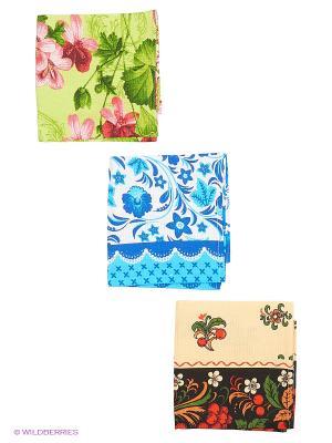 Набор 3 полотенца Метиз. Цвет: черный, синий, зеленый