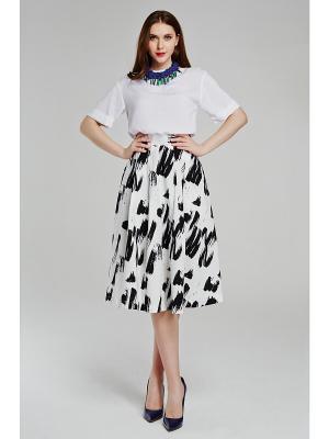 Блузка CLABIN. Цвет: молочный