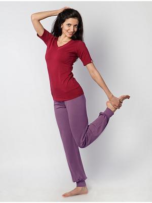 Штаны женские Классика yogadress. Цвет: фиолетовый