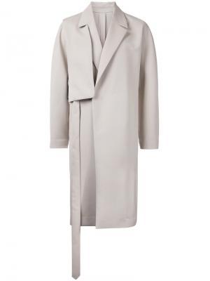 Пальто с панелью на плечо Wooyoungmi. Цвет: телесный