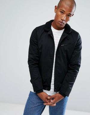 Troy Куртка с воротником борг. Цвет: черный