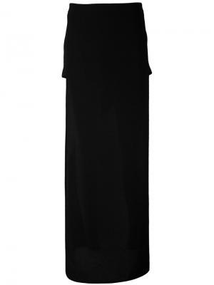 Off-shoulder maxi dress Gareth Pugh. Цвет: чёрный