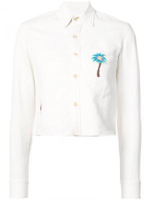 Рубашка с вышивкой пальмы Mother. Цвет: белый
