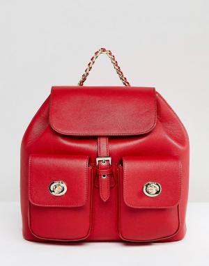 Marc B Красный рюкзак. Цвет: красный