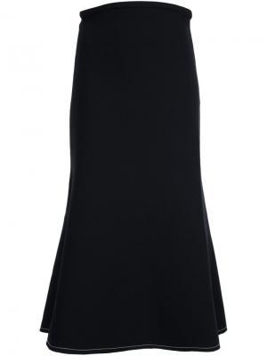 Расклешенная юбка миди Ellery. Цвет: чёрный