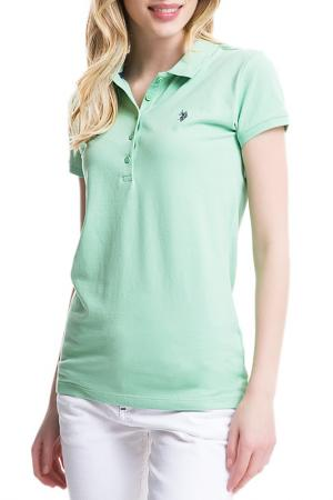Футболка U.S. Polo Assn.. Цвет: зеленый