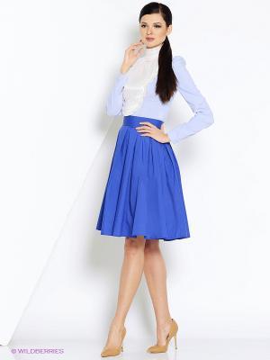 Блуза СОНЯ МАРМЕЛАДОВА. Цвет: голубой, белый