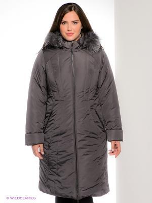 Пальто D`imma. Цвет: темно-серый