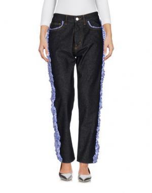 Джинсовые брюки VIRGINIA BIZZI. Цвет: синий