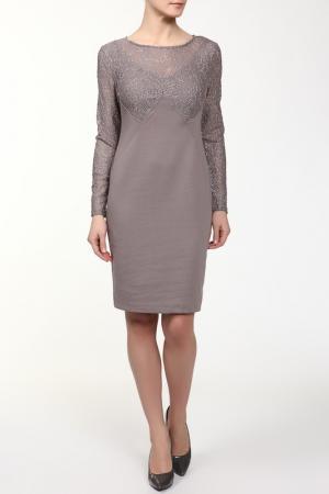 Платье M&L Collection. Цвет: коричневый