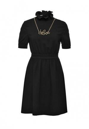 Платье Love Moschino. Цвет: черный
