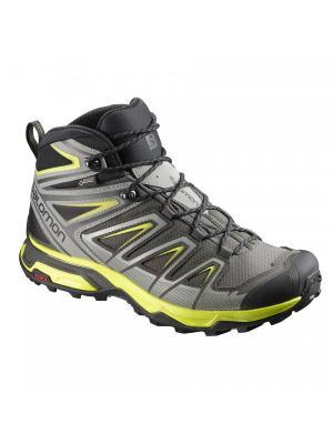 Ботинки SHOES X ULTRA 3 MID GTX Beluga/SHAD/Sul SALOMON. Цвет: серый, желтый, черный
