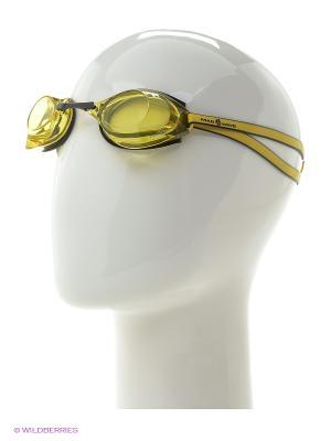 Стартовые очки Turbo Racer II Mad Wave. Цвет: желтый, черный